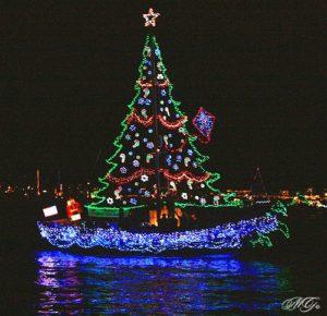 christmas sail boat